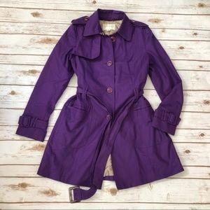 Banana Republic Purple Trench Coat